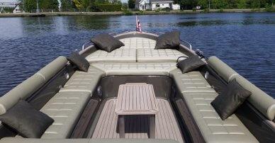 Nautische stoffen en passende bootkussens jan van gent boot